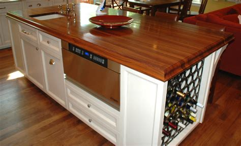kitchen island wine storage traditional kitchen