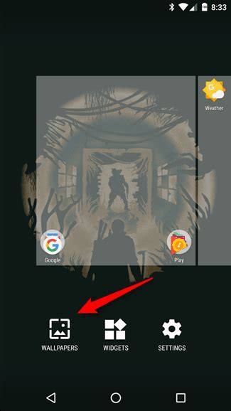 change  lock screen wallpaper  android nougat
