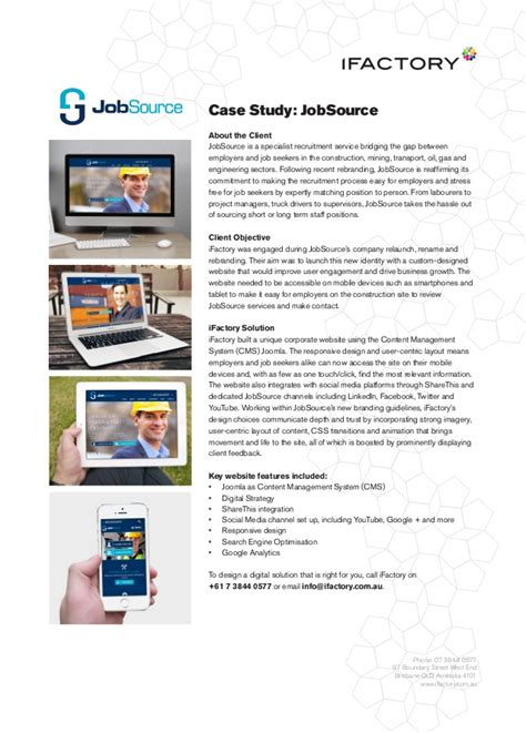 factory pattern web service case study jobsource by ifactory