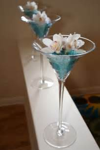 Large Martini Glass Vases Centerpieces by Receptions Turquoise And Glasses On