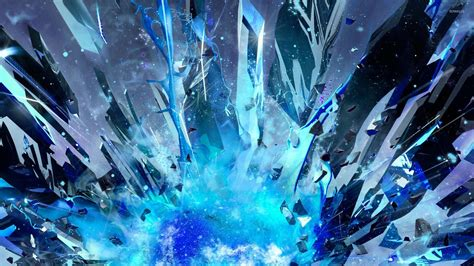 Cryatal X blue explosion wallpaper 3d wallpapers 29889