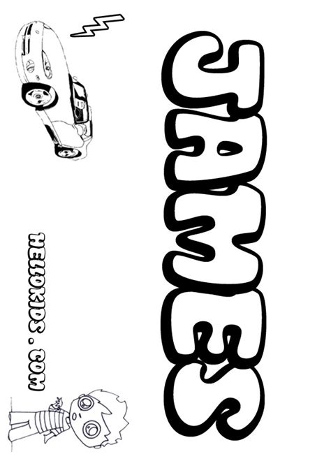 kids name coloring pages james boy name to color