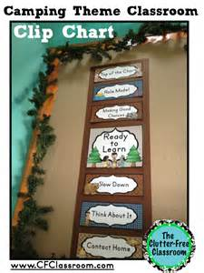 Clutter free classroom camping themed classrooms