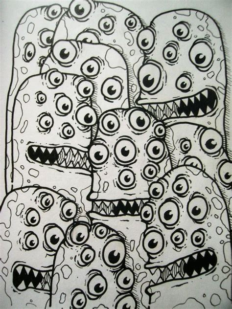 doodle monsters doodle by jeyarsanmiguel on deviantart