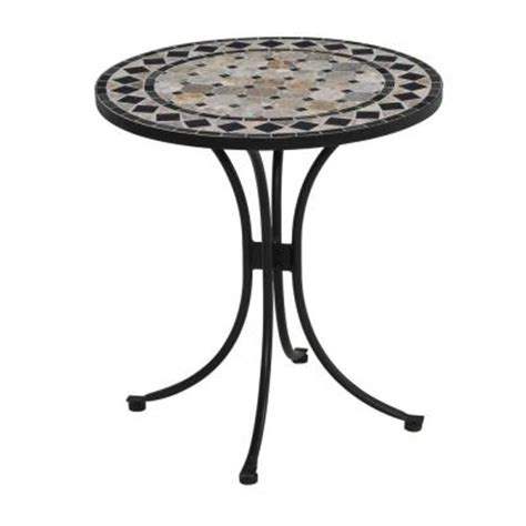 Tile Top Bistro Table Home Styles 28 In Black And Tile Top Patio Bistro Table 5605 34 The Home Depot