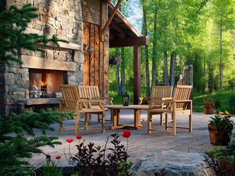 fireplace backyard 20 cozy outdoor fireplaces outdoor design landscaping