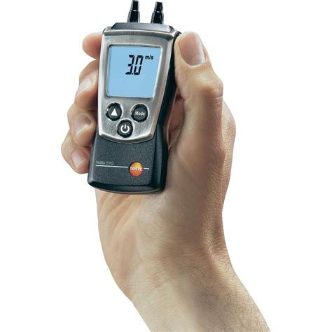 testo only time testo 510 differential pressure meter from conrad