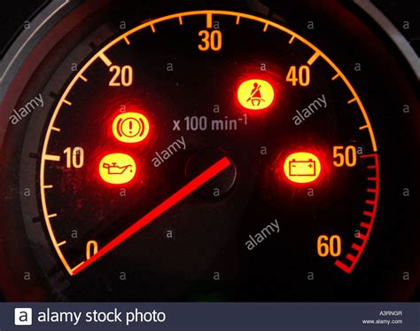 Warning Lights On A Car by Car Warning Lights In Illuminated Dashboard Re Motoring Stock Photo Royalty Free Image