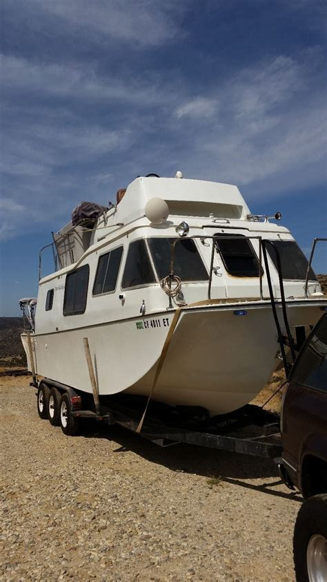 boat n rv land n sea houseboat 28ft with tri 3 axle trailer cruiser