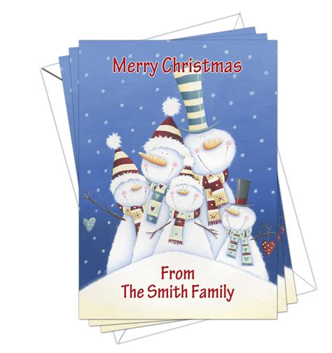 christmas cards cute pack of 10 d l designs ltd