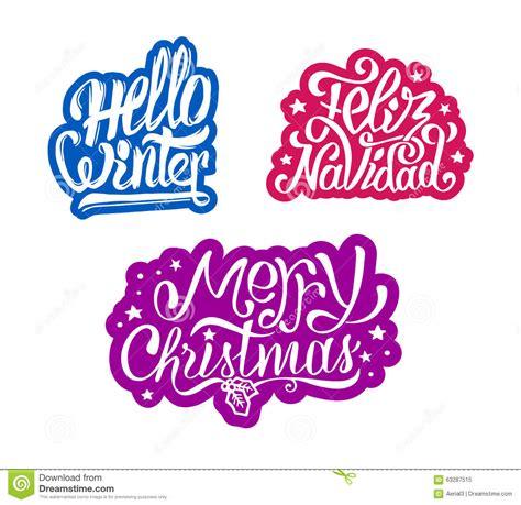 merry christmas  feliz navidad stickers stock vector image
