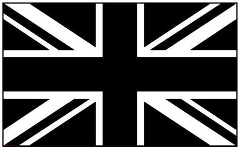 british flag black and white clipart best