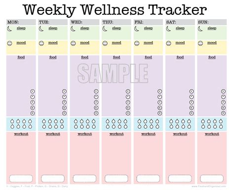 printable diet and exercise planner weekly wellness tracker activity log sleep diary food