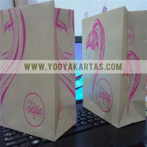 Kantong Packaging Makanan Minuman Dus Box Samson Craft Coklat Kopi Bub tas kertas kraft aqilla skin care