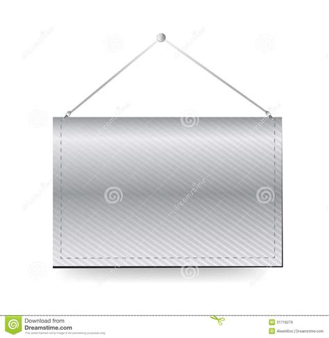 wall hanging blank template banner royalty free stock