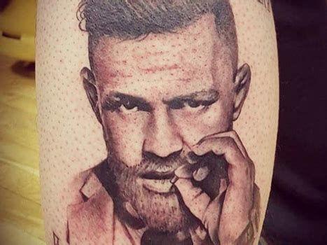 mcgregor face tattoo ufc fan gets conor mcgregor tattoo