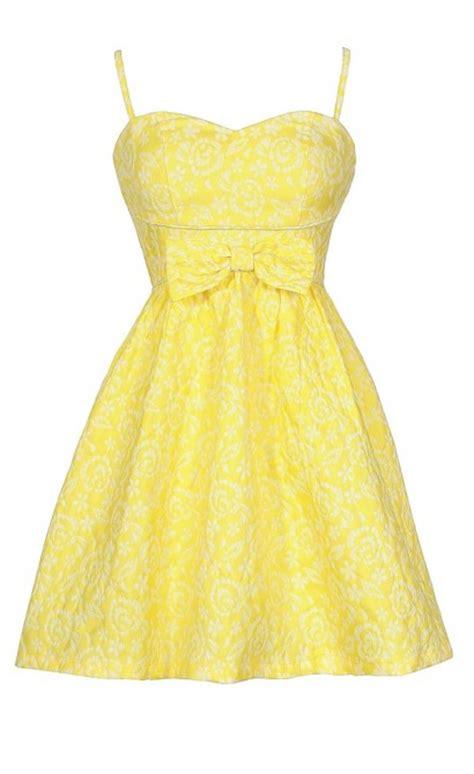 Bright Sundresses by Bright Yellow Sundress Bright Yellow Bow Dress
