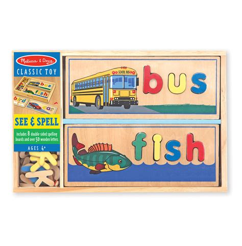 wood pattern and spelling toy melissa doug see spell wooden spelling puzzle buy
