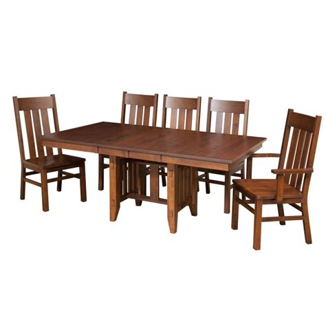 poco mission trestle table home envy furnishings solid