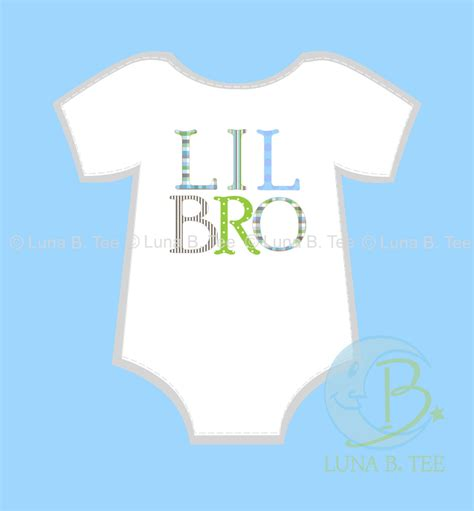 printable paper to iron on shirts instant download lil little bro brother letters pattern