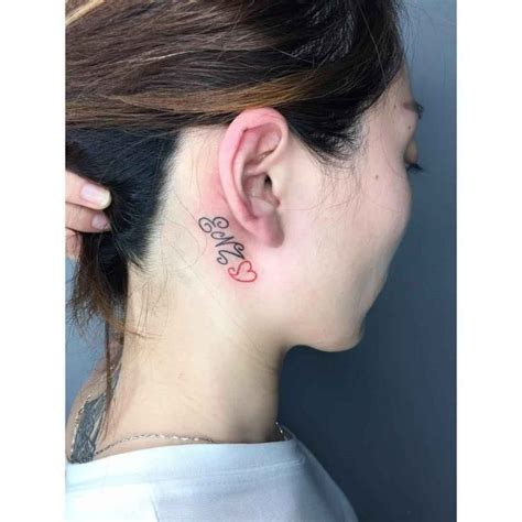 tattoo behind ear military letters tattoo behind the ear best tattoo ideas gallery