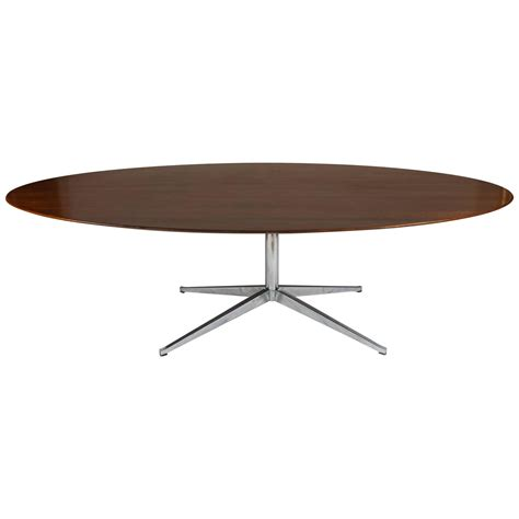 Oval Dining Tables For 8 Florence Knoll Oval Rosewood Dining Table Desk Conference Table 8 Foot At 1stdibs