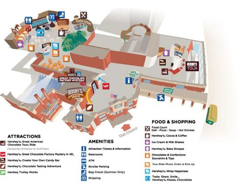 layout of hotel hershey hershey chocolate world overview map mmm foodies food