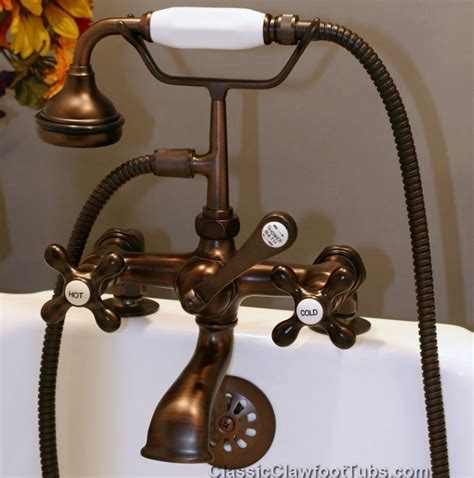 Faucet For Clawfoot Tub With Shower Diverter Clawfoot Tub Deckmount British Telephone Faucet W Hand