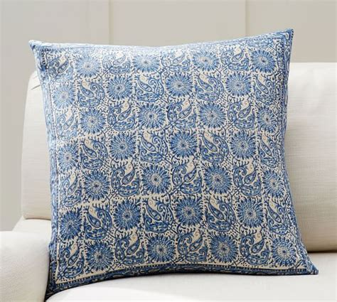 Pillow Cover Printing by Aida Block Print Pillow Cover Pottery Barn