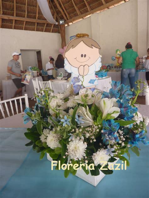 centro de mesa para bautizo azul y blanco centerpieces centerpieces
