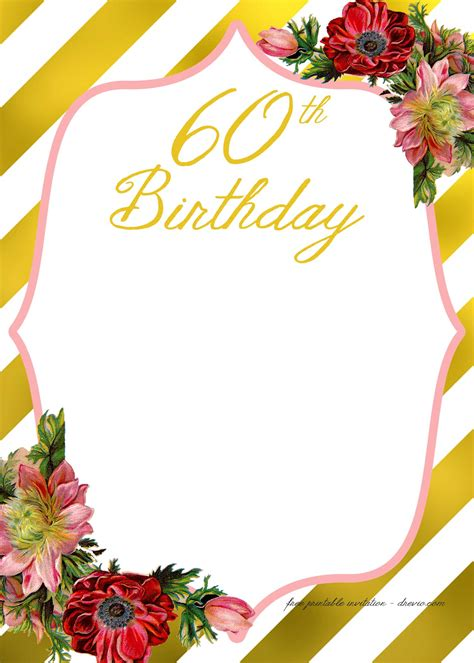 Free Birthday Invitation Templates For Adults by Free Printable Birthday Invitation Template