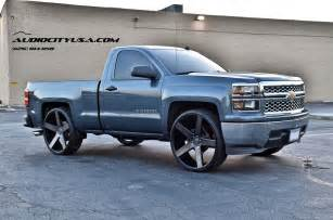 2014 chevy silverado single cab 28 quot on dub baller matte
