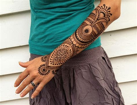 henna tattoo sleeve creative geometric tattoos design ideas henna