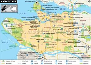 vancouver on map of canada vancouver map interesting facts about vancouver city canada