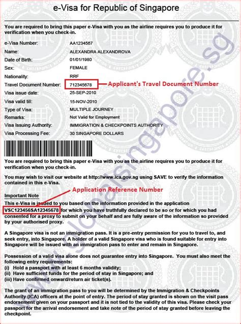 Employment Letter For Singapore Visa Check Singapore Visa S Authenticity Global Singapore Visa Centre Global Singapore Visa