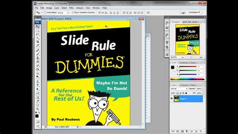 photoshop making a dummies book mock up youtube