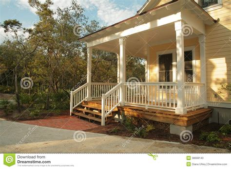 House Exterior Colors by Front Porch Of Yellow House Stock Image Image Of Home
