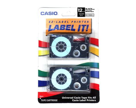 Casio Kl 60 Print Label casio kl 60 label 2pack oem black on white 12mm