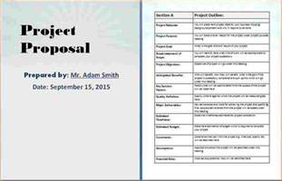 Sample Project Proposal Template Free Free Project Proposal Template Business Proposal