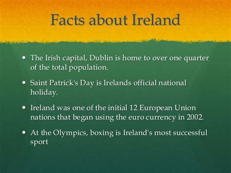 ireland facts about christmas ireland powerpoint