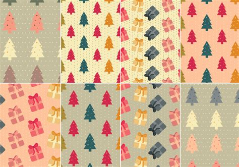 christmas tree pattern photoshop christmas tree and presents photoshop pattern pack free
