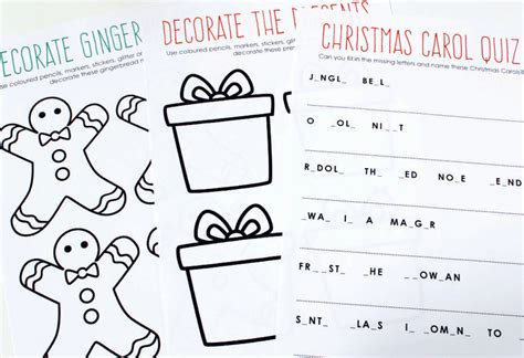 printable christmas activity book free printable christmas activity book