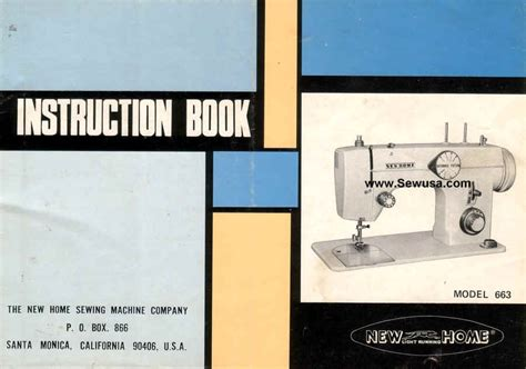 new home model 663 sewing machine manual