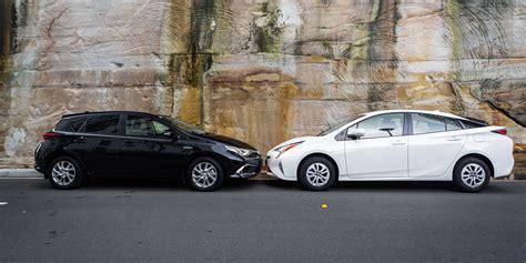 Toyota Prius Hybrid Toyota Corolla Hybrid V Toyota Prius Comparison Photos