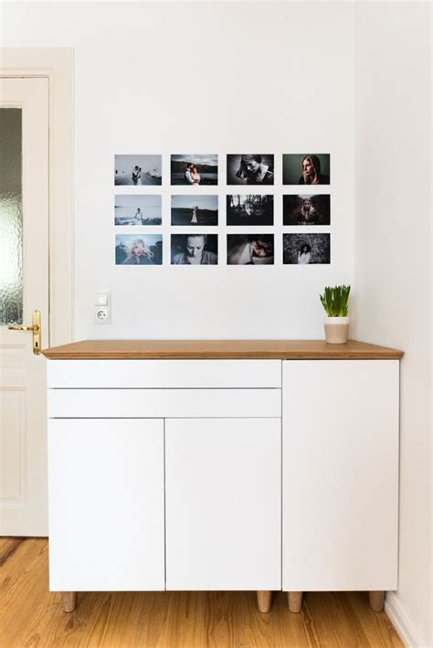 What Are Ikea Kitchen Cabinets Made Of Oh I This Bamboo Sideboard Made From Ikea Kitchen Cabinets And A Hilver Table Top Ikea