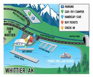 Whittier Alaska Map by Anchorage Whittier Ak Usa Cruise Port Of Call