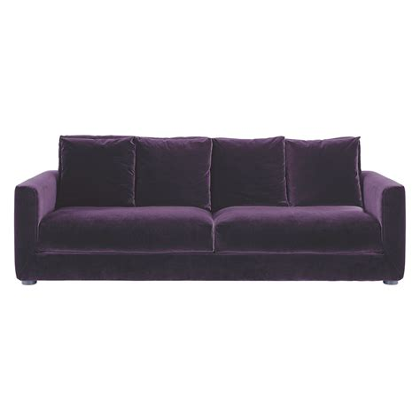 rupert purple velvet 3 seater sofa buy now at habitat uk