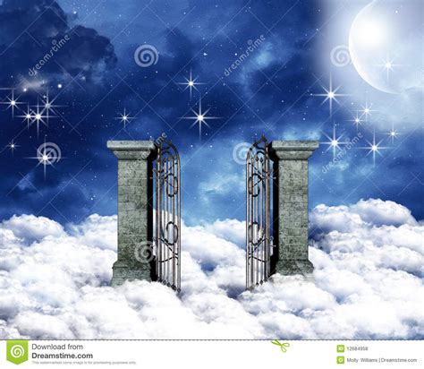 heavenly gate stock photo image of blessing love