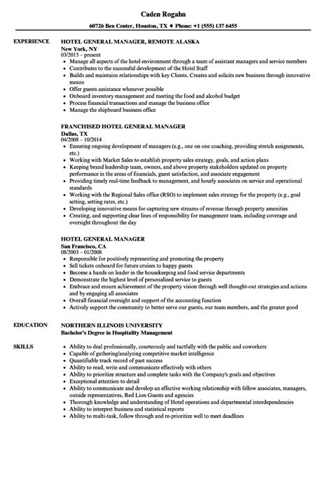 Hotel General Manager Resume by Hotel General Manager Resume Sles Velvet