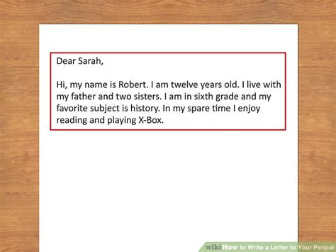 thank you letter to 1st grade how to write a letter to your penpal with pictures wikihow